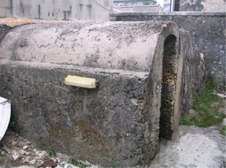 Air-raid shelter in WWII (also referred as the bomb shelter by Penghu people)